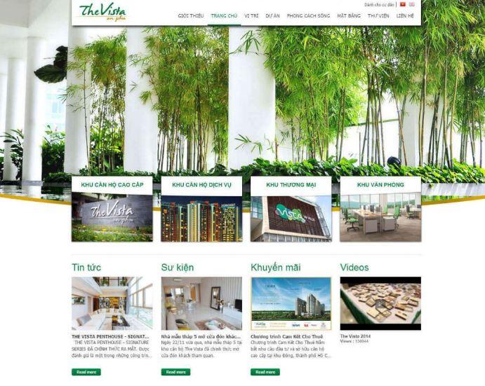 Mẫu thiết kế website để Marketing cho doanh nghiệp