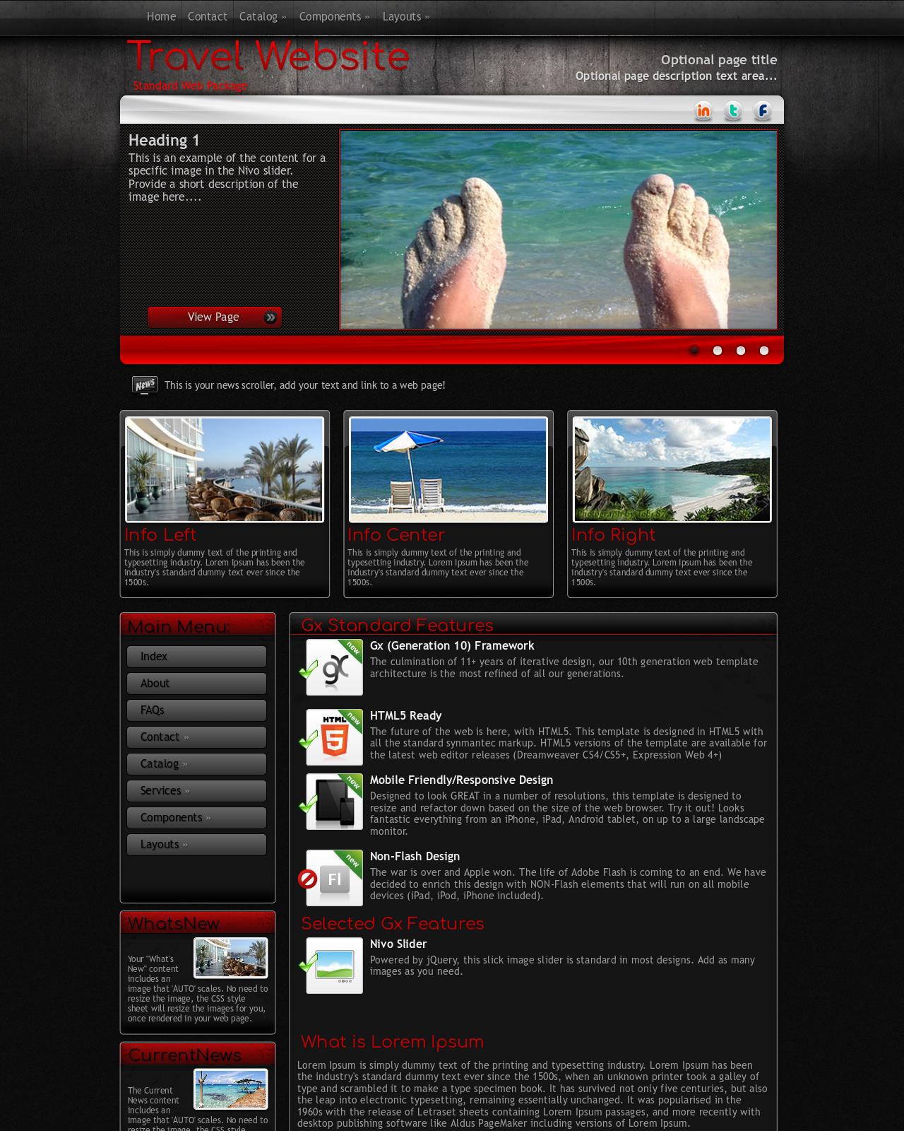 Tone màu cho website du lịch.
