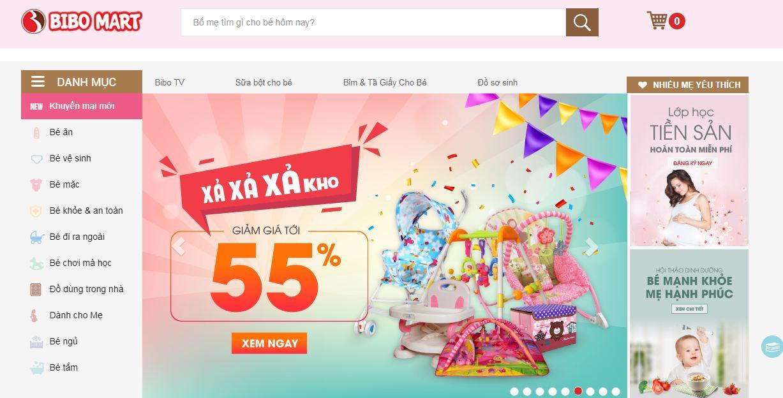 Bibomart - website bán hàng mẹ và bé