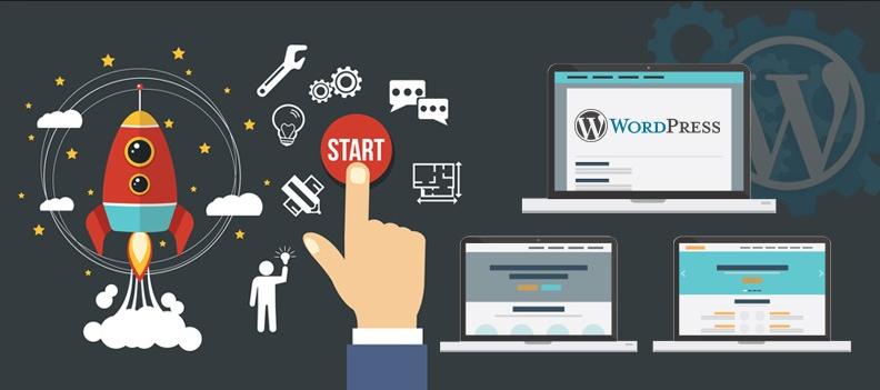 Thiết kế web bằng WordPress.