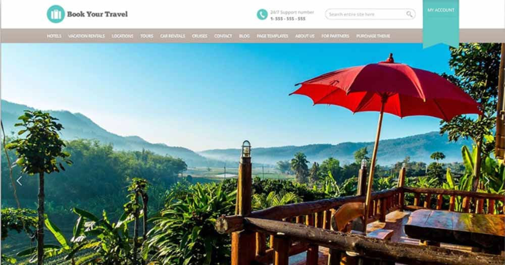 Theme web du lịch Book your travel