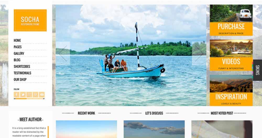 Template Website du lịch Socha
