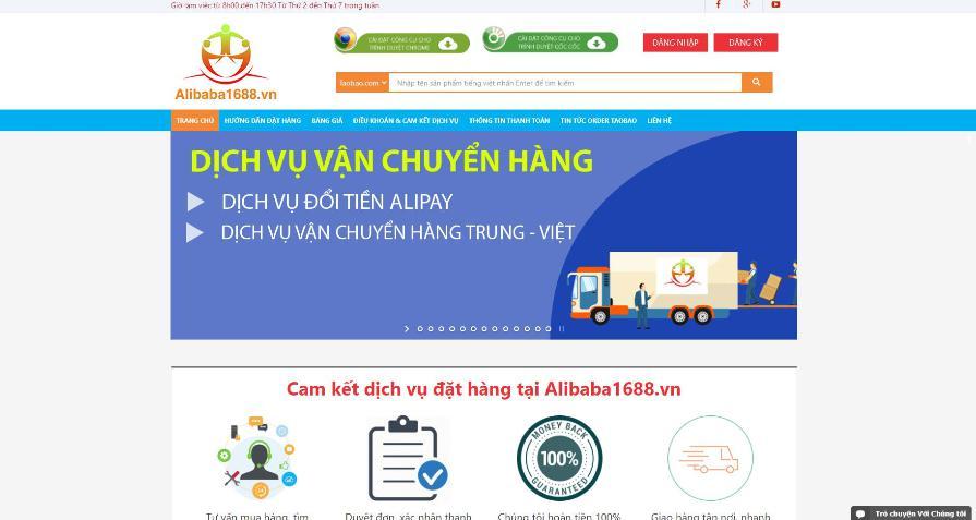 Alibaba1688 – vận chuyển hàng Trung Quốc TMĐT