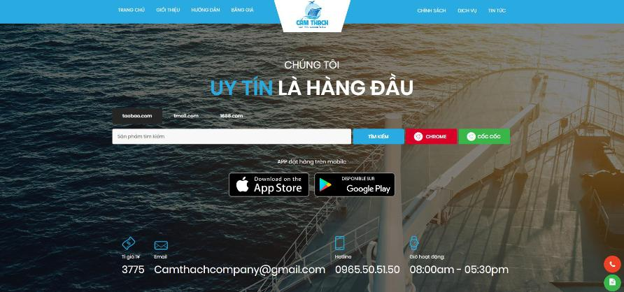 Cẩm Thạch Company: Công ty nhập hàng - vân chuyển Trung Quốc