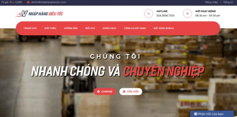 Nhập hàng siêu tốc: Đơn vị đặt hàng Quảng Châu - Vận chuyển hàng hóa