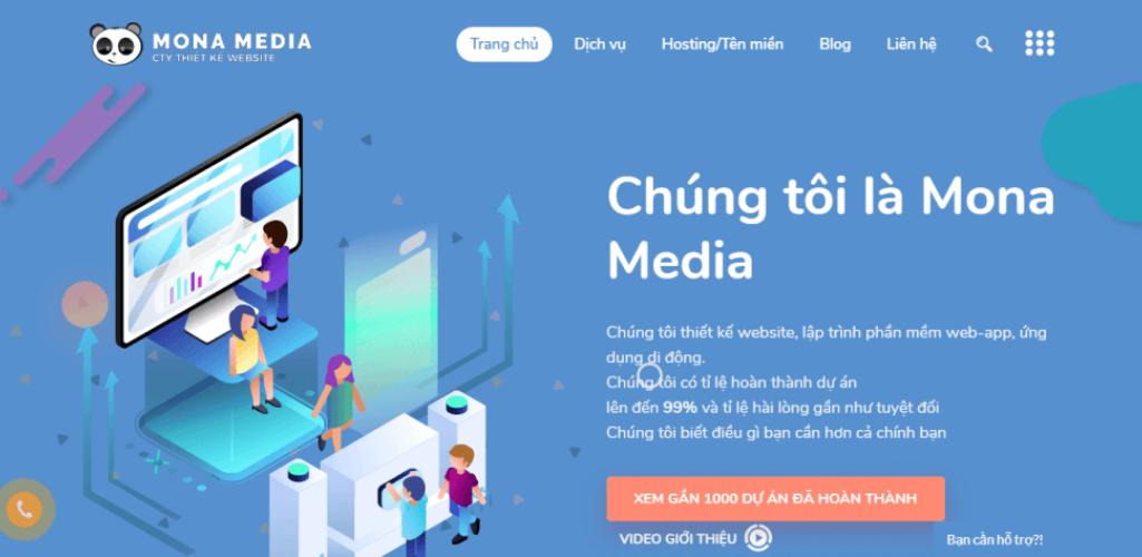công ty thiết kế website uy tín Mona